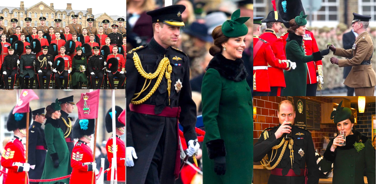 Duke and Duchess of Cambridge at St Patrick's Day Parade