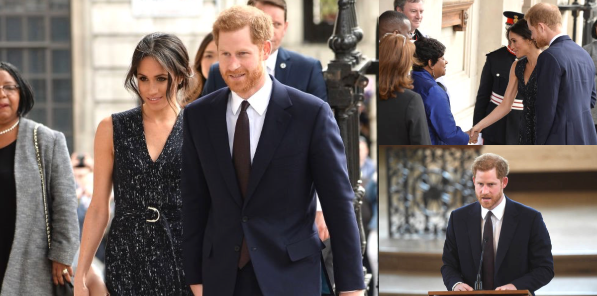 Prince Harry and Meghan Markle at Stephen Lawrence Memorial Service