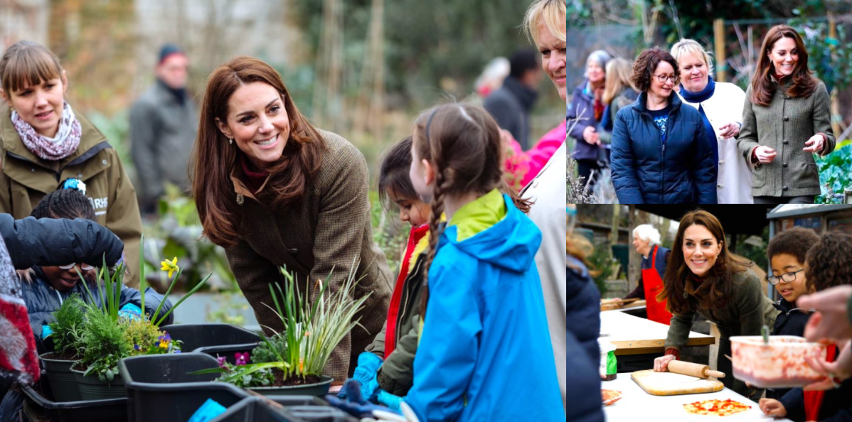 Duchess of Cambridge at King Henry's Walk Garden