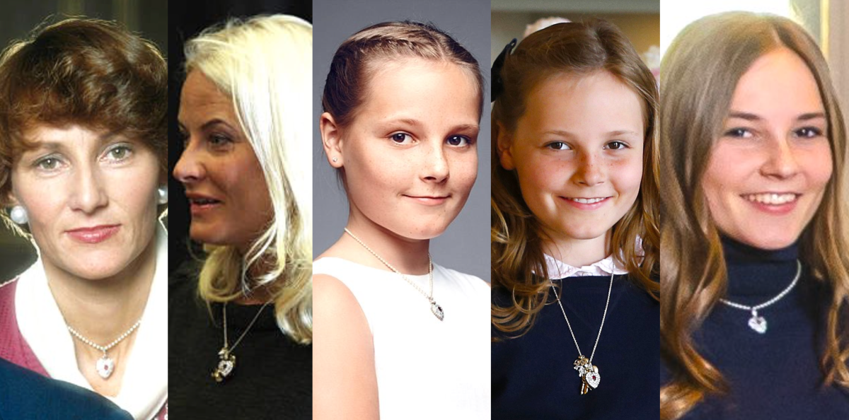 Princess Ingrid Alexandra's Ruby Heart Pendant